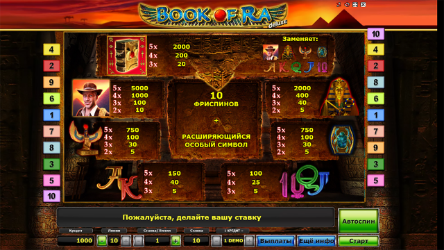 Бонусная игра Book Of Ra Deluxe 3