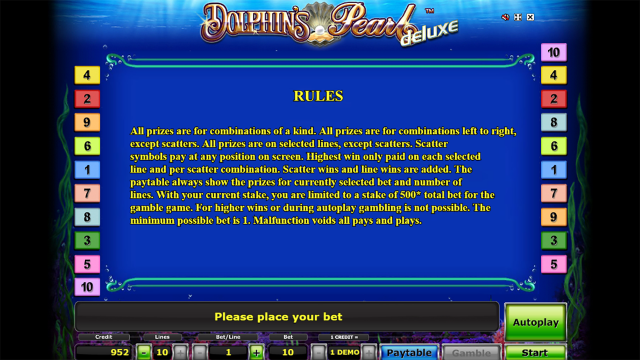 Бонусная игра Dolphin's Pearl Deluxe 2