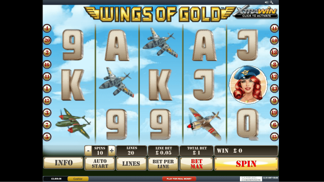 Бонусная игра Wings Of Gold 6