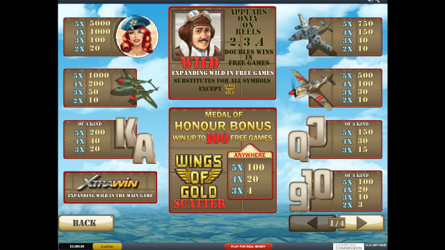 Бонусная игра Wings Of Gold 2