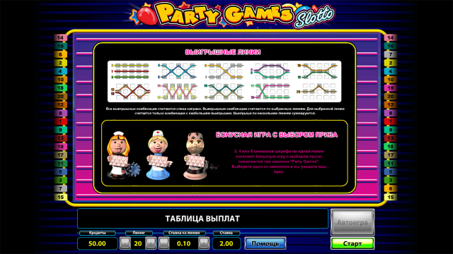 Бонусная игра Party Games Slotto 4